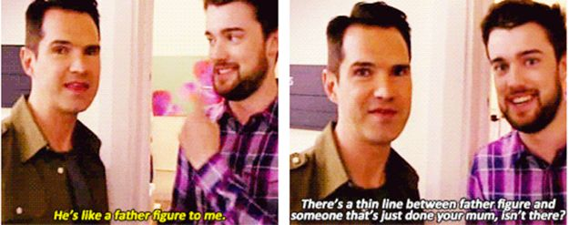 When he killed a perfectly lovely moment with Jack Whitehall. | 21 Times Jimmy Carr Was The Funniest Man In Britain