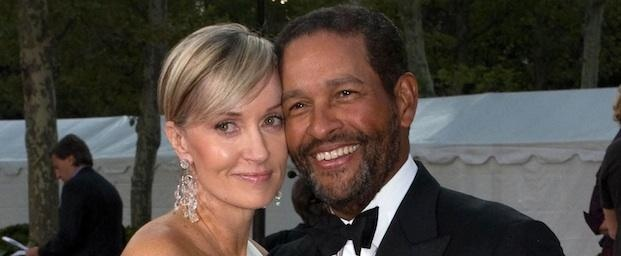 7 Longtime Famous Interracial Couples Bryant Gumbel and Hilary Quinlan