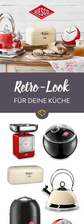 Die Accessoires aus buntem Metall in Retro-Optik haben viele Fans und sind in jeder Küche der Hingucker.