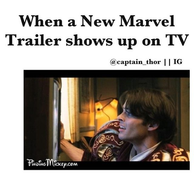Or any time watching a trailer I've been waiting for xD