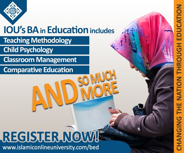 Islamic Online University offers a magnificent opportunity to gain knowledge in education while being taught true Islamic teachings.  Bachelor's degree in Education from Islamic Online University will be beneficial to the students in this life and in afterlife. http://www.islamiconlineuniversity.com/bed/ For more queries, email us at info@iou.edu.gm