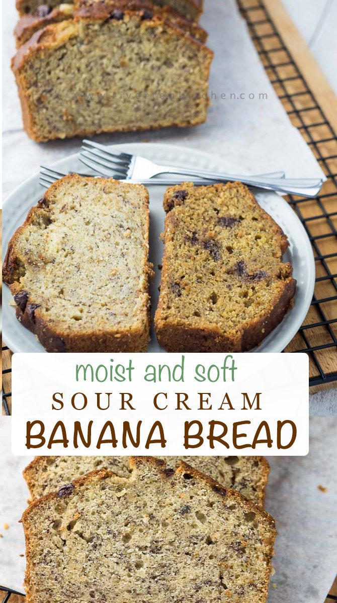 Moist And Soft Banana Bread Recipe In 2020 Bread Soft Sour Cream Banana Bread Banana Bread