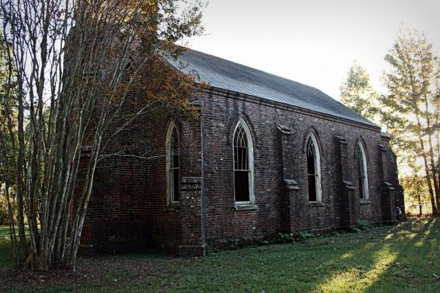 St. Mary's Episcopal Church was built in 1857 to serve approximately 20 plantation families north of St. Francisville, Louisiana.  The church was deconsecrated in 1947, and today stands empty, gradually being overtaken by the surrounding forest.