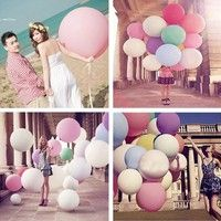 Description: The 36 Inch Big Size Latex Balloon is a perfect decoration for party, wedding, birth
