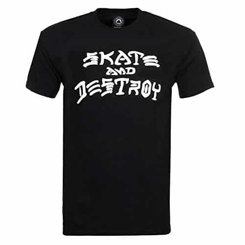 Thrasher Skate and Destroy Short Sleeve T-Shirt-Black: Skate and Damage: phrases to are living by way of, phrases to skate by way of,…