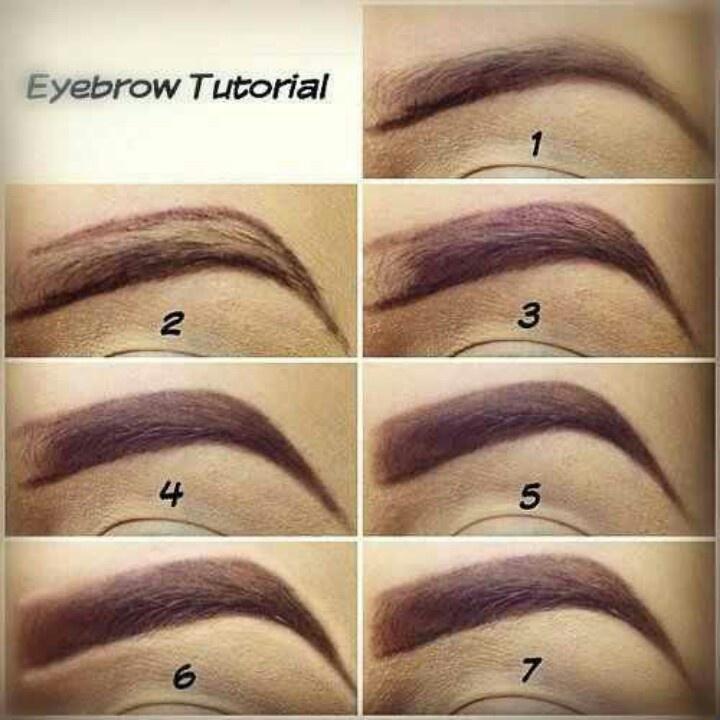eyebrow shading technique