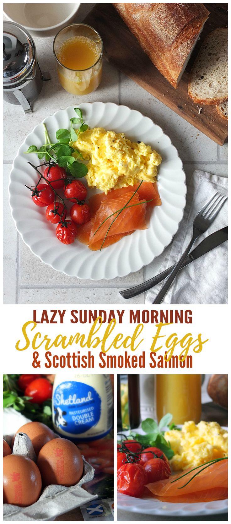 In collaboration with British Lion Eggs.#ad #eggs #scrambledeggs #breakfast #smokedsalmon #salmon
