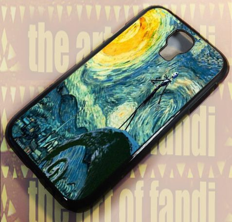 Starry Night Befor Christmas For Samsung Galaxy S4 Black Rubber Case
