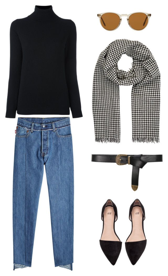 """""""Casual Chic"""" by danitramarie on Polyvore featuring Vetements, Allude, Étoile Isabel Marant, Alberta Ferretti, Oliver Peoples, monochrome, chic, cozy, capsule and Spring2017"""