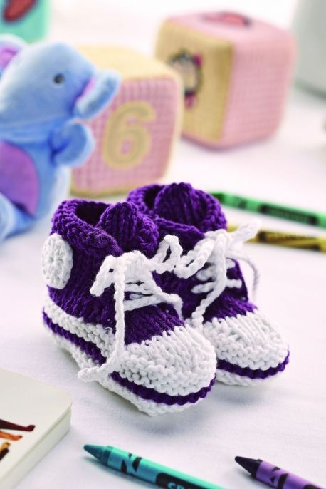 Baby Hi-Tops By Lucinda Ganderton - Free Knitted Pattern With Website Registration - (letsknit)