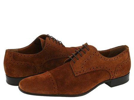 Bally Men's Shoes Suede Cap Toe Oxfords - Wow!!!