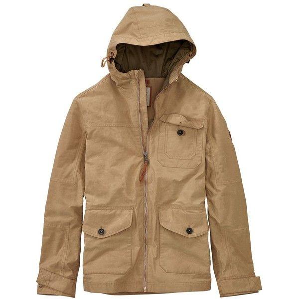 Timberland Men's Utility Jacket ($107) ❤ liked on Polyvore featuring men's fashion, men's clothing, men's outerwear, men's jackets, british khaki, mens zipper jacket, mens utility jacket, mens jackets, timberland mens jackets and mens zip jacket