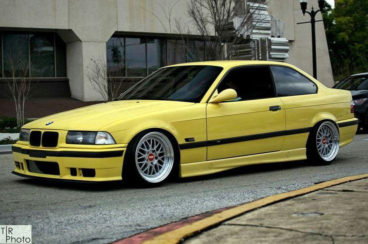 bmw e36 m3 yellow slammed bmw ultimate driving machine. Black Bedroom Furniture Sets. Home Design Ideas
