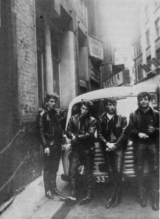 The Beatles on Mathew Street, Lliverpool 1961 // Pete Best later replaced by Ringo Starr