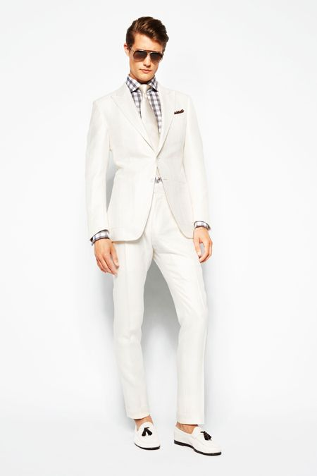 Tom Ford Spring 2014 Men's Collection: How to wear a white suit