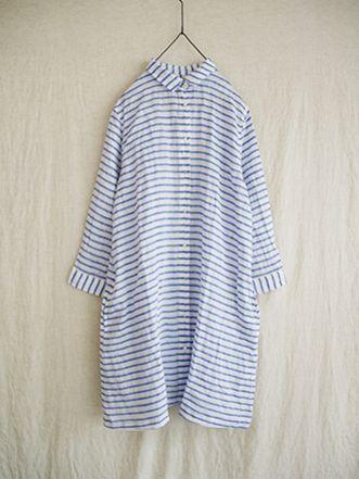 i c h i linen border shirts one piece (#140411)