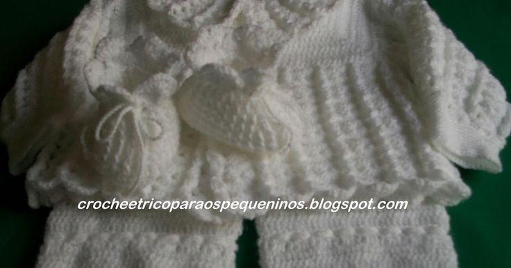 Boa noite amigas, conjunto de crochê para bebe   já postei vários dele no Blog.   usei o fio Keamor da Pingouin, agulhas 2 mm   Receita d...