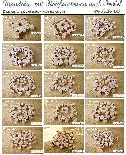 15 Mandalas of the day mit den Spielgaben nach Fröbel - Holzbausteine der Spielgabe 5B (Goldammer) Hier gibt es diese Bausteine zu kaufen: http://www.friedrich-froebel-online.de/shop/spielgaben/ Mehr Infos und Fotos zu Spielgabe 5B gibt es hier: http://www.friedrich-froebel-online.de/s-p-i-e-l-g-a-b-e-n/spielgabe-5b-nach-goldammer/