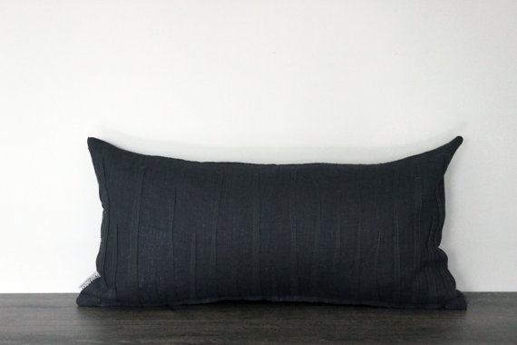 Decorative Pillow Case by Lempi design Verso dark by LEMPIDESIGN, $55.00