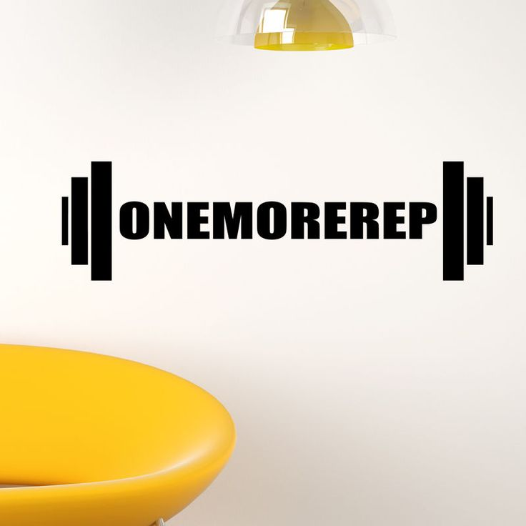 One more rep wall sticker weightlifting weights quote gym fitness decal w138