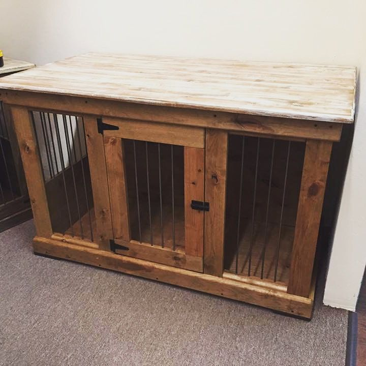 Best 25 dog crate furniture ideas that you will like on pinterest dog crate dog crates and Wooden crates furniture