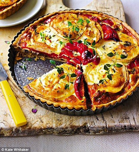 This very summery tart is perfect for an alfresco lunch or picnic
