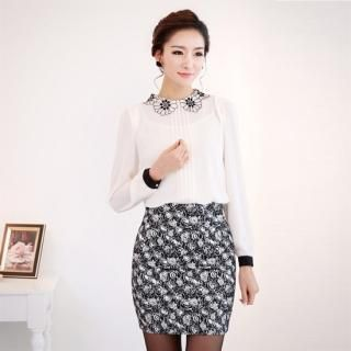 Buy 'Orange Style – Lace-Collar Pintuck-Front Blouse' with Free International Shipping at YesStyle.com. Browse and shop for thousands of Asian fashion items from South Korea and more!
