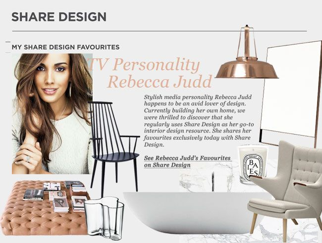 Rebecca Judd Shares Her Favourites   Featured on Sharedesign.com