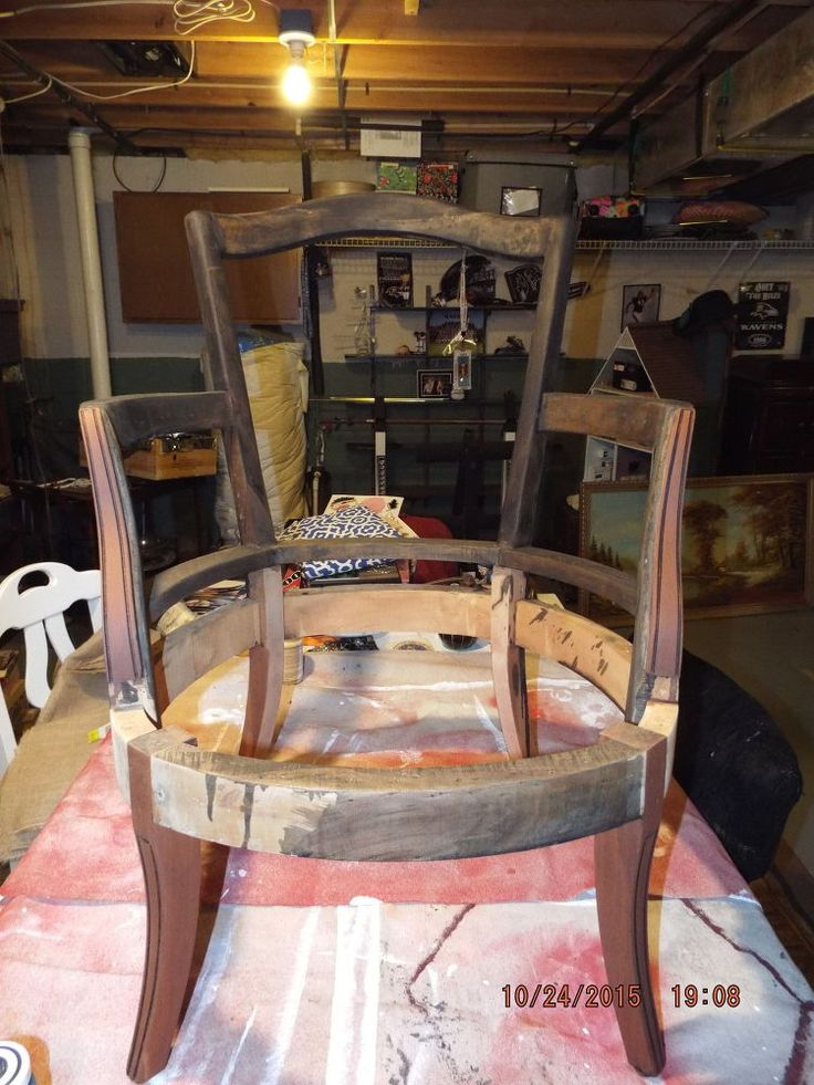 RE-DO THE ONE OUT IN THE SHED Broken Down Slipper Chair
