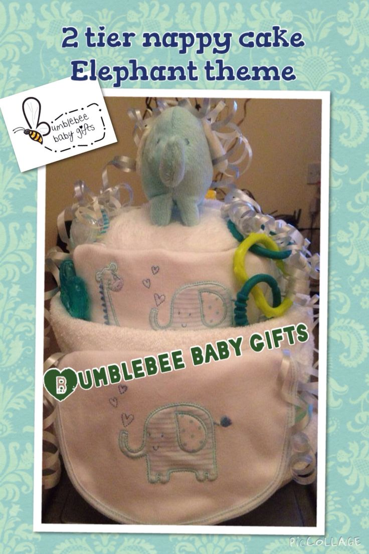 Elephant nappy cake for a gorgeous baby boy