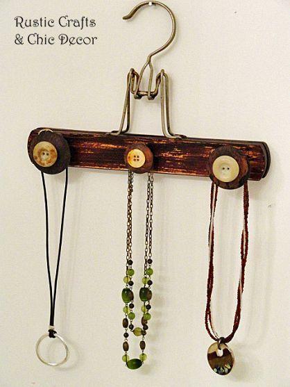 Repurposed Wooden Hanger Crafts