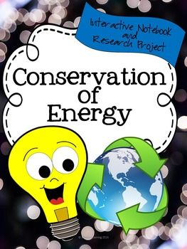 Energy Conservation Unit: Interactive Notebook and Inquiry Research ProjectDownload this unit and get the best of both worlds a whole unit that includes interactive notebook activities, and a project based research activity that leads to student inquiry.