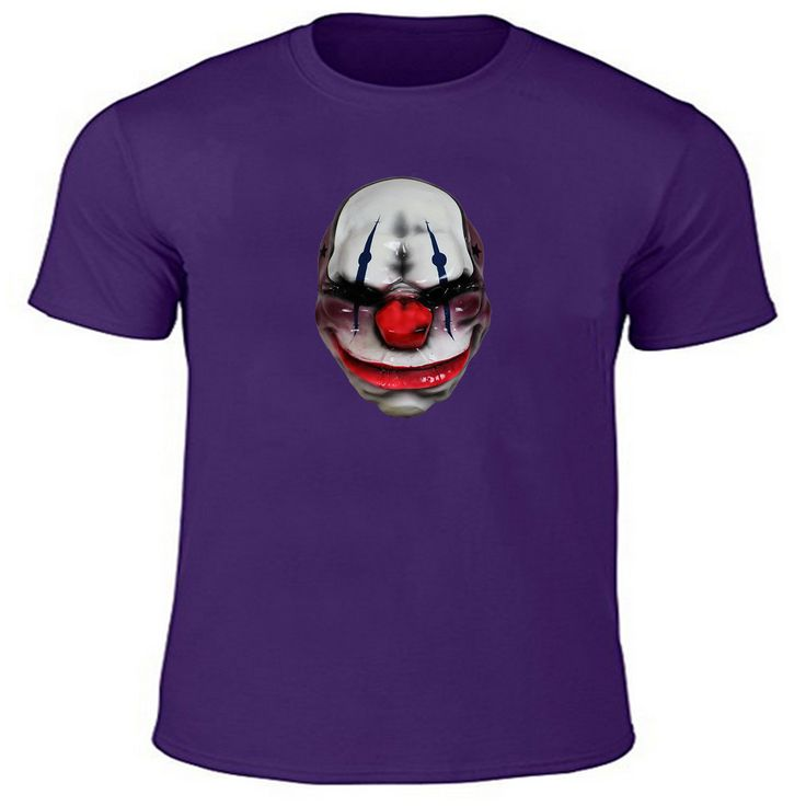 Top Hot 2017 New Style  Payday 2 Wolf Mask Custom Print High Quality T-shirt Short Sleeves Round Neck Men's Tee Free Shipping