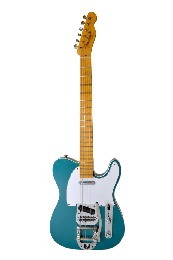 Fender Custom Shop 1952 Telecaster Bigsby Relic -Turquoise gREEN.JPG