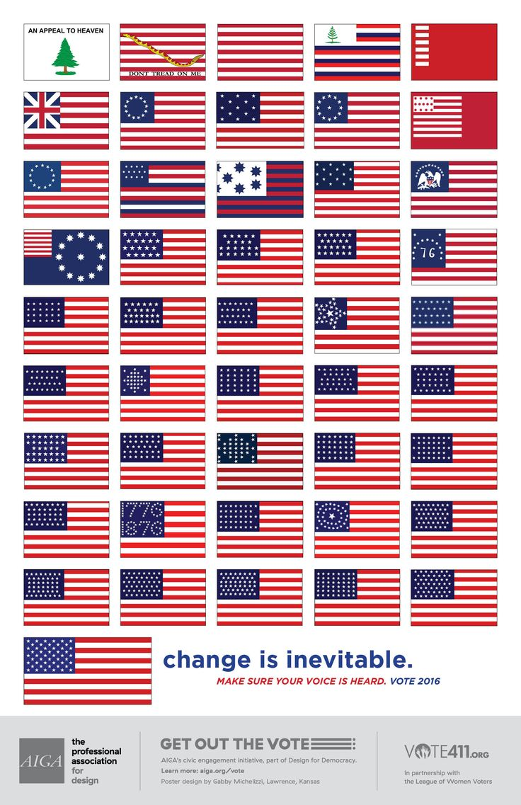 AIGA's Design for Democracy 2016 Get Out the Vote posters.  Available to all for downloading and printing.