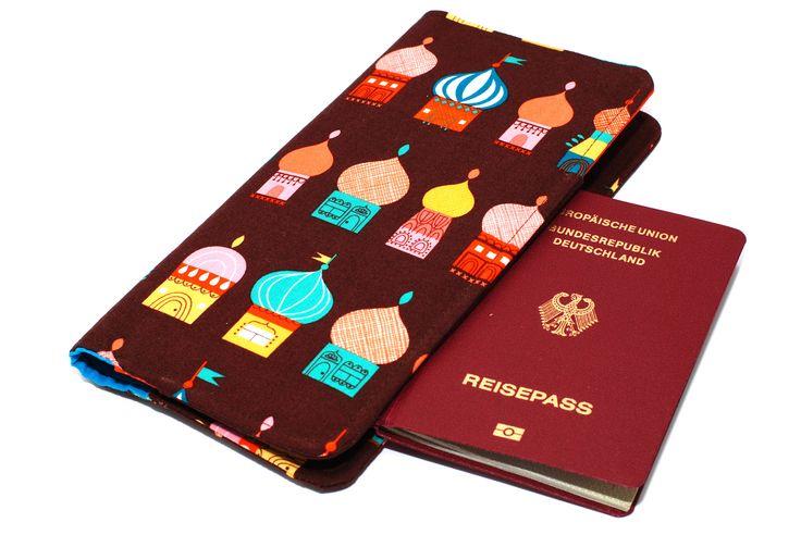 Reise Etui nähen, Reisemappe mit Platz für Tickets, Reisepass,...