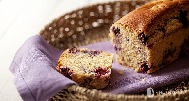 Ecco la ricetta del plumcake ai mirtilli senza uova nè burro e quindi adatto anche ai vegani. Perfetto per la colazione o per la merenda! Provalo!