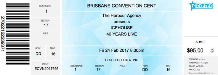 Icehouse, Convention Centre, Brisbane 2017.