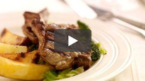 Pan Fried Lamb Loin Chops with Stir Fried Green Vegetables and Wedges. This is such a simple meal to prepare and it makes for a great tasty midweek snack #Lamb