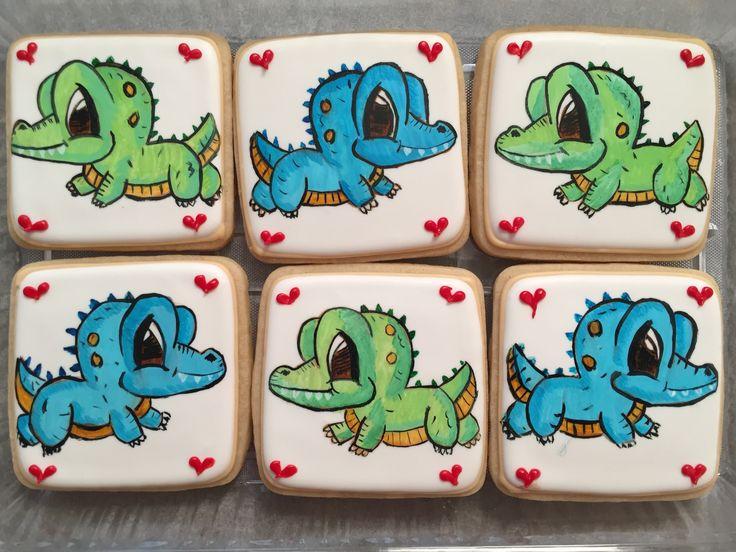 Alligator / crocodile cookies