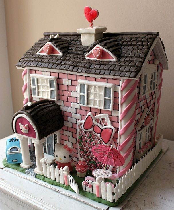 Hello Kitty gingerbread house. Incredibly cool. Click on the photo to go to  the