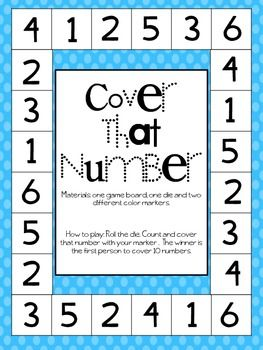 Cover That Number FREE Dice Game
