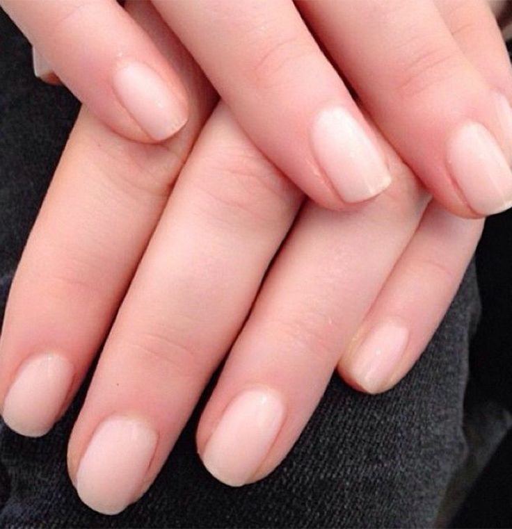 "Come see us for your barely there ""naked"" nails, the mani trend everyone's talking about."