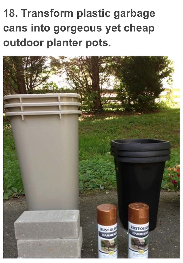 Garbage Can Planters With Images Large Outdoor