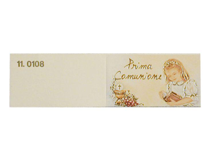 Bigliettino comunione bambina confezione da 20 pezzi