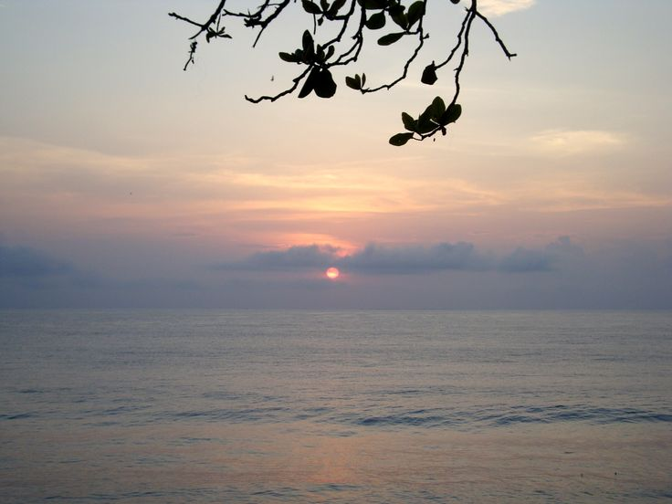 Sunrise in Batu Karas Beach