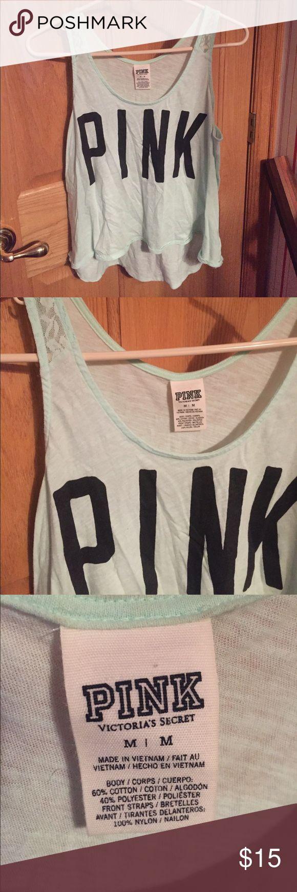 Victoria Secret Pink tank Victoria Secret Pink tank. Size medium. Color: mint green Victoria's Secret Tops Tank Tops