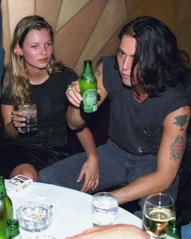 And dated Johnny Depp. | The 22 Most '90s Pictures Of Kate Moss Ever Taken