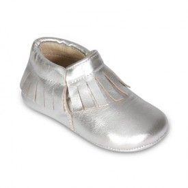 Fringe Bootie Silver