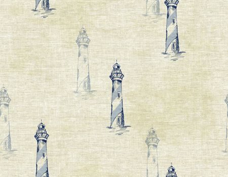 The wallcovering collection, Cape Cod, by Wallquest is chock full of nautical wallpaper. Sketched Lighthouse wallpaper